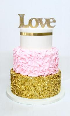 L.O.V.E Gold Sequin